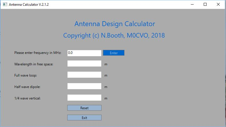 M0CVO Antennas - software